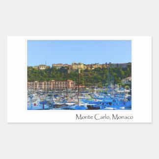 Pegatina Rectangular Monte Carlo Mónaco