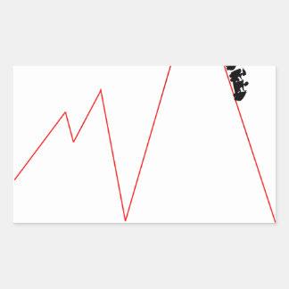Pegatina Rectangular Monte el práctico de costa Crypto