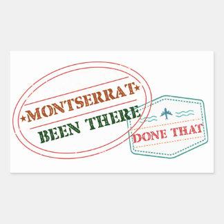 Pegatina Rectangular Montserrat allí hecho eso