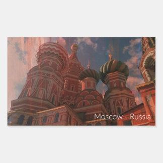 Pegatina Rectangular Moscow_russia
