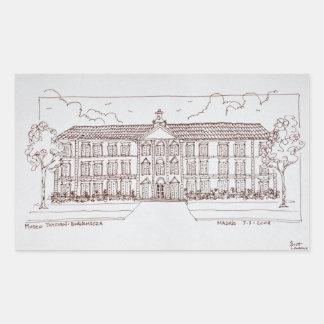 Pegatina Rectangular Museo Thyssen-Bornemisza el | Madrid, España