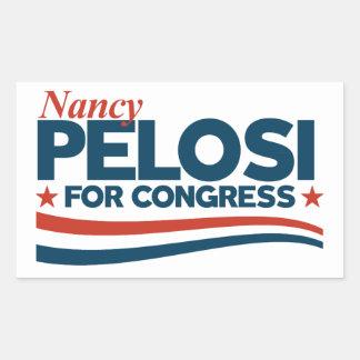 Pegatina Rectangular Nancy Pelosi