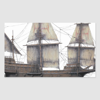 Pegatina Rectangular Nave de oro de 1578 Hinde