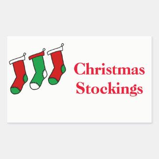 Pegatina Rectangular Navidad que organiza las etiquetas - medias