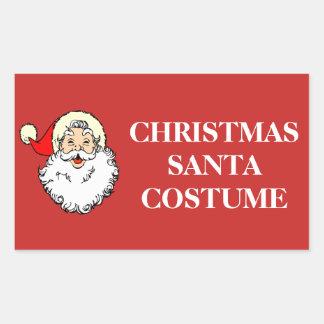 Pegatina Rectangular Navidad que organiza las etiquetas - traje de
