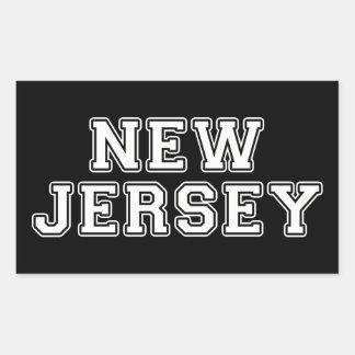 Pegatina Rectangular New Jersey