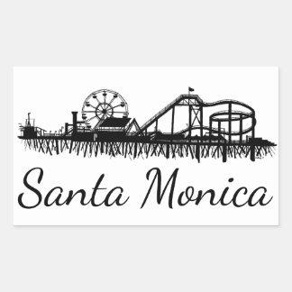 Pegatina Rectangular Noria de la playa del embarcadero de California