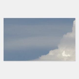 Pegatina Rectangular Nubes blancas suaves contra fondo del cielo azul