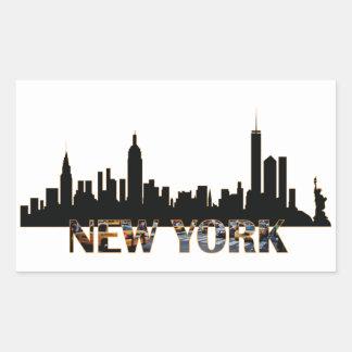 Pegatina Rectangular Nueva York
