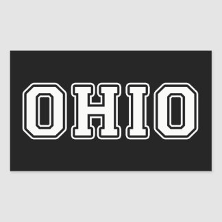 Pegatina Rectangular Ohio