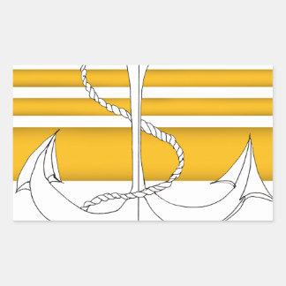 Pegatina Rectangular oro vicealmirante, fernandes tony