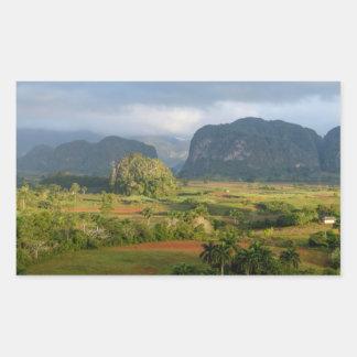 Pegatina Rectangular Paisaje panorámico del valle, Cuba