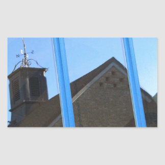 Pegatina Rectangular Paleta de viento en la ventana