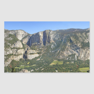 Pegatina Rectangular Panorama 3 del valle de Yosemite - Yosemite