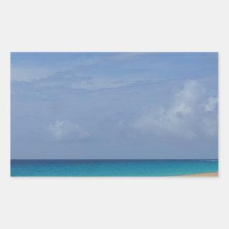 Pegatina Rectangular paraíso tropical