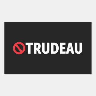 Pegatina Rectangular Pare a los pegatinas de Canadá del trudeau de