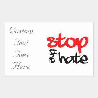 Pegatina Rectangular Pare el odio