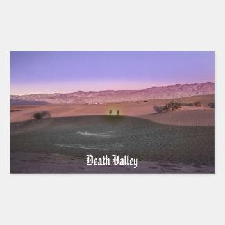 Pegatina Rectangular Parque nacional de Death Valley de la salida del