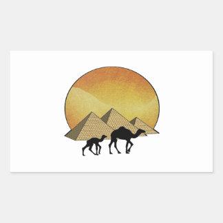 Pegatina Rectangular Paso egipcio