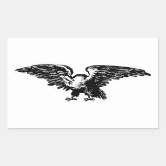Pegatina Rectangular Pegatinas de Eagle calvo del ilustracion de la