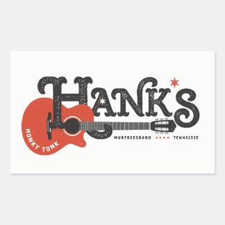 Pegatina Rectangular Pegatinas de la guitarra de Hank