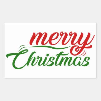 Pegatina Rectangular pegatinas de las Felices Navidad
