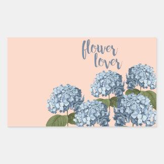 Pegatina Rectangular Pegatinas del amante de la flor