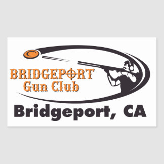 Pegatina Rectangular Pegatinas del club del arma de Bridgeport