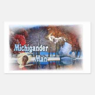 Pegatina Rectangular ¡Pegatinas del hombre de Michigander!