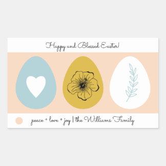 Pegatina Rectangular Pegatinas del regalo de Pascua de los huevos de