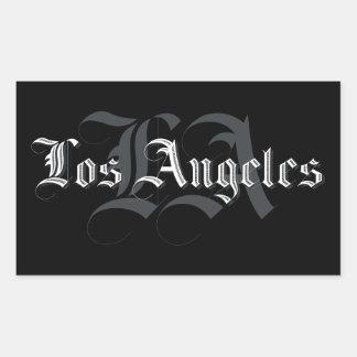 Pegatina Rectangular Pegatinas Los Ángeles Blackletters