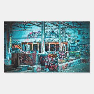 Pegatina Rectangular Pegatinas murales de la pared de ladrillo de la