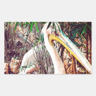 Pegatina Rectangular pelícanos