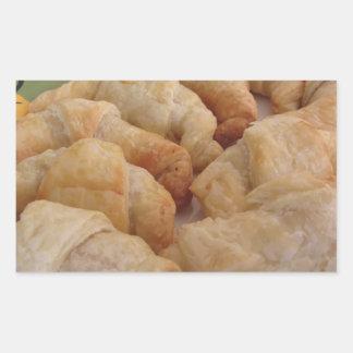 Pegatina Rectangular Pequeños croissants salados hechos en casa