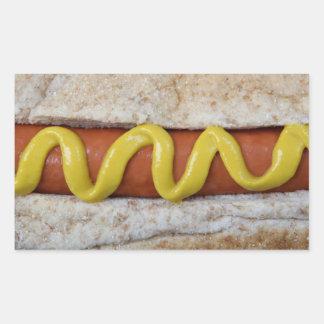 Pegatina Rectangular perrito caliente delicioso con la fotografía de la
