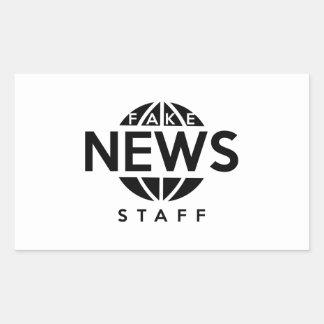 Pegatina Rectangular Personal falso de las noticias