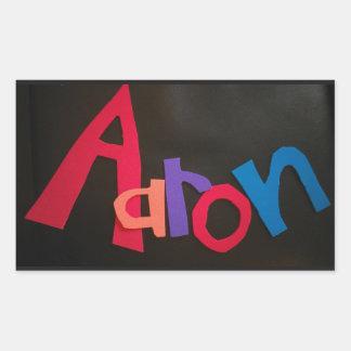 Pegatina Rectangular personalizado para los pegatinas de Aaron