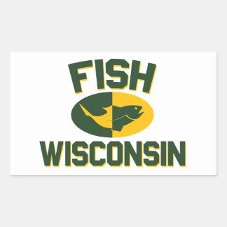 Pegatina Rectangular Pescados Wisconsin