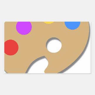 Pegatina Rectangular Pinte la paleta y cepíllela