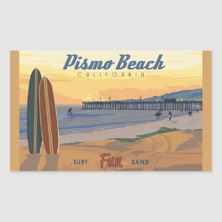 Pegatina Rectangular Playa Califorina de Pismo