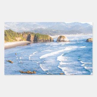 Pegatina Rectangular Playa Oregon del cañón