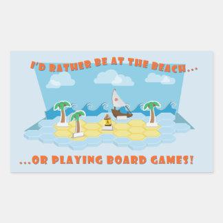 Pegatina Rectangular Playas y pegatinas de los juegos de mesa