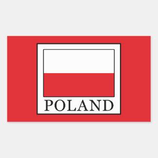 Pegatina Rectangular Polonia