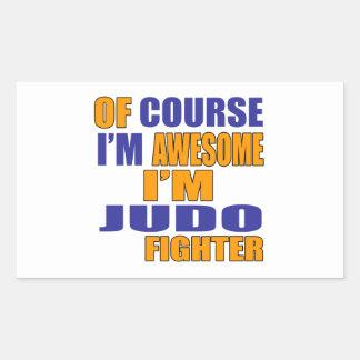 Pegatina Rectangular Por supuesto soy combatiente del judo