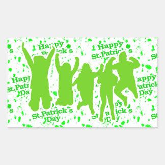 Pegatina Rectangular Poster del fiesta del día del St Patricks