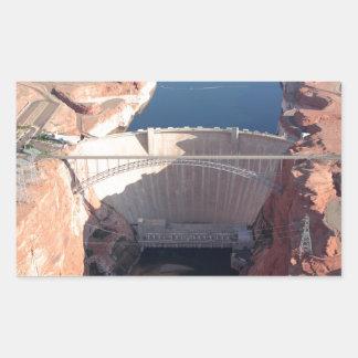 Pegatina Rectangular Presa y puente, Arizona de Glen Canyon