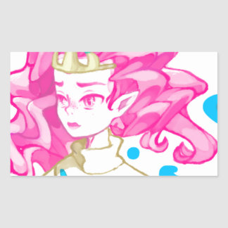 Pegatina Rectangular Princesa del mar