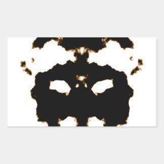 Pegatina Rectangular Prueba de Rorschach de una tarjeta de la mancha
