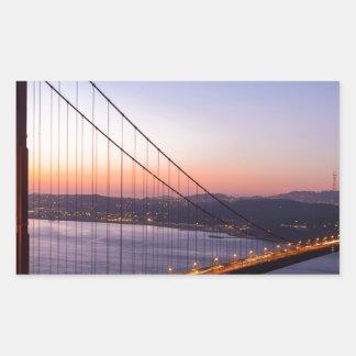Pegatina Rectangular Puente Golden Gate San Francisco en la salida del