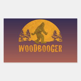 Pegatina Rectangular Puesta del sol del vintage de Woodbooger